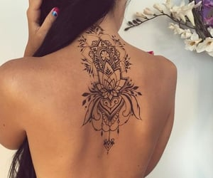 aesthetic, ink, and back tattoos image
