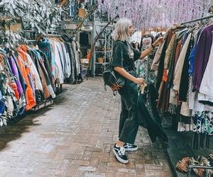fashion, flea market, and girl image