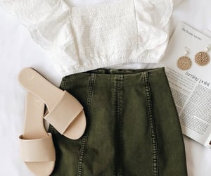 skirt, white, and clothes image