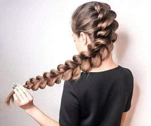 braids, fashion hair, and hairstyle image