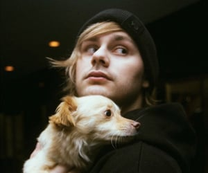 5sos, michael clifford, and dog image