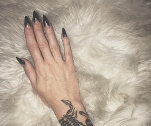 black, stiletto, and tattoo image
