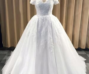 ball gown, long prom dress, and dress image