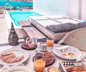 breakfast, Greece, and Island image