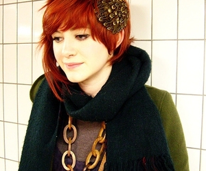 short hair, pretty, and red hair image