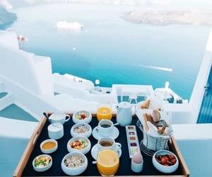 sea, breakfast, and summer image