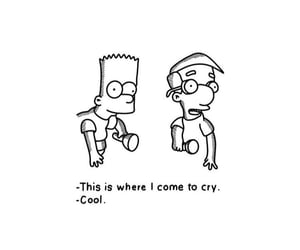 art, bart, and cry image