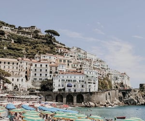 Amalfi coast, architecture, and beach image