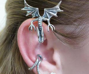 ear, jewelries, and Piercings image