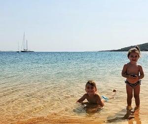 babies, beach, and boy image