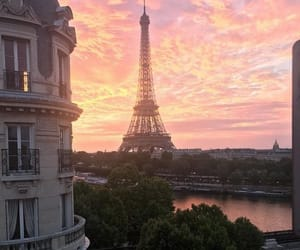 paris, sunset, and view image