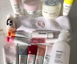 makeup, white, and glossier image