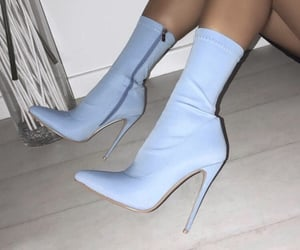 blue, boots, and blue boots image
