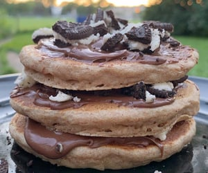 food, oreo, and pancakes image
