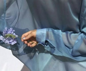 blouse, blue, and color image
