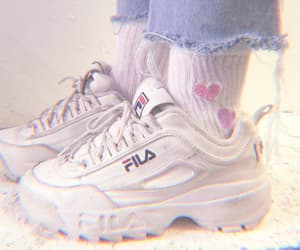 shoes, Fila, and theme image