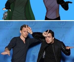 sebastian stan, loki, and tom hiddleston image