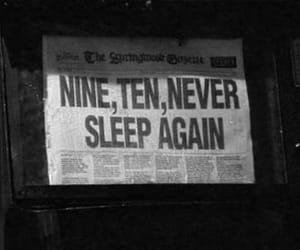 black and white, sleep, and newspaper image