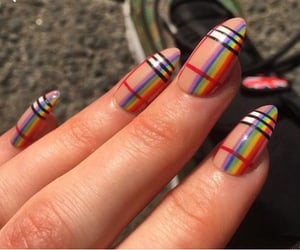 nails, aesthetic, and Burberry image