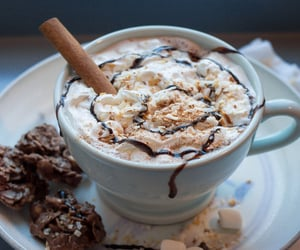 drink, chocolate, and Cookies image