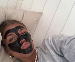girl, facemask, and pfp image