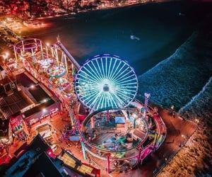 california, fun, and pier image