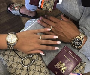 couple, travel, and gucci image