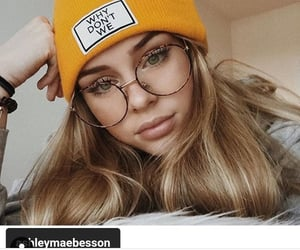 girl, blonde, and beanie image