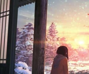 anime, beautiful, and sunrise image