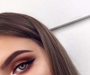 makeup, girl, and blue image