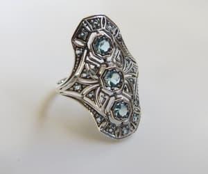 etsy, art deco jewelry, and aquamarine jewelry image