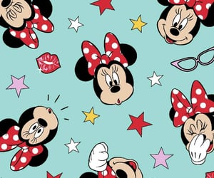 background, disney, and minnie image