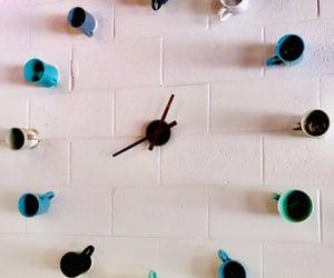 artsy, clock, and coffee image