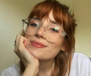 eyeglasses, ginger, and glasses image