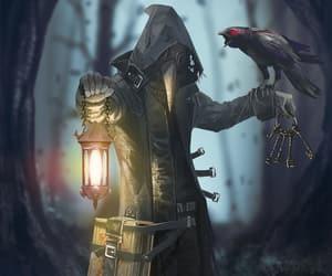 fantasy, raven, and lantern image