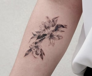 flowers, girly, and ink image