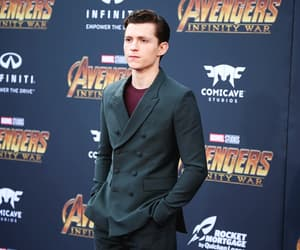 boy, spiderman, and tom holland image
