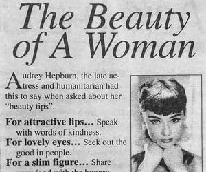 audrey hepburn, beauty, and woman image