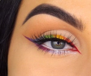 colors, eyebrows, and eyelashes image