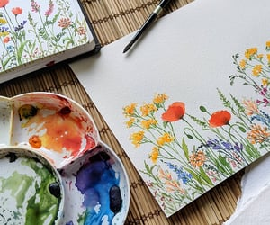 art, flowers, and spring image