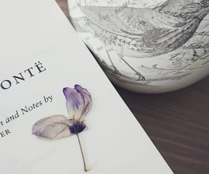 book, flower, and jane eyre image
