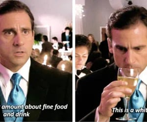 funny, the office, and wine image