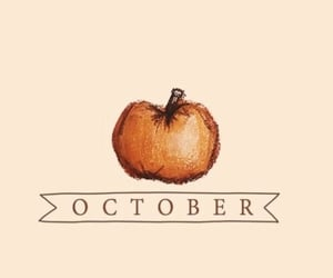 october, autumn, and pumpkin image