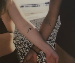 beach, best friends, and henna image