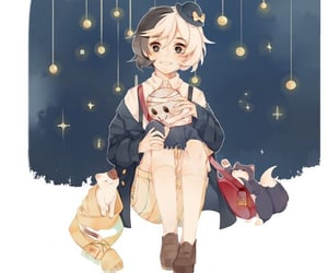 night, anime boy, and bsd image