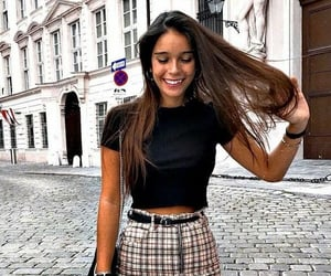 black, girly, and casual image