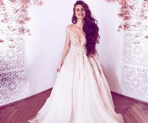 wedding, girl, and dress image
