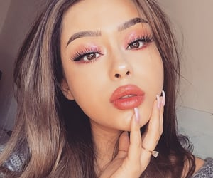 beautiful lady, pretty girl girls, and makeup inspiration image