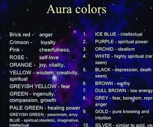 aura, colors, and witch image