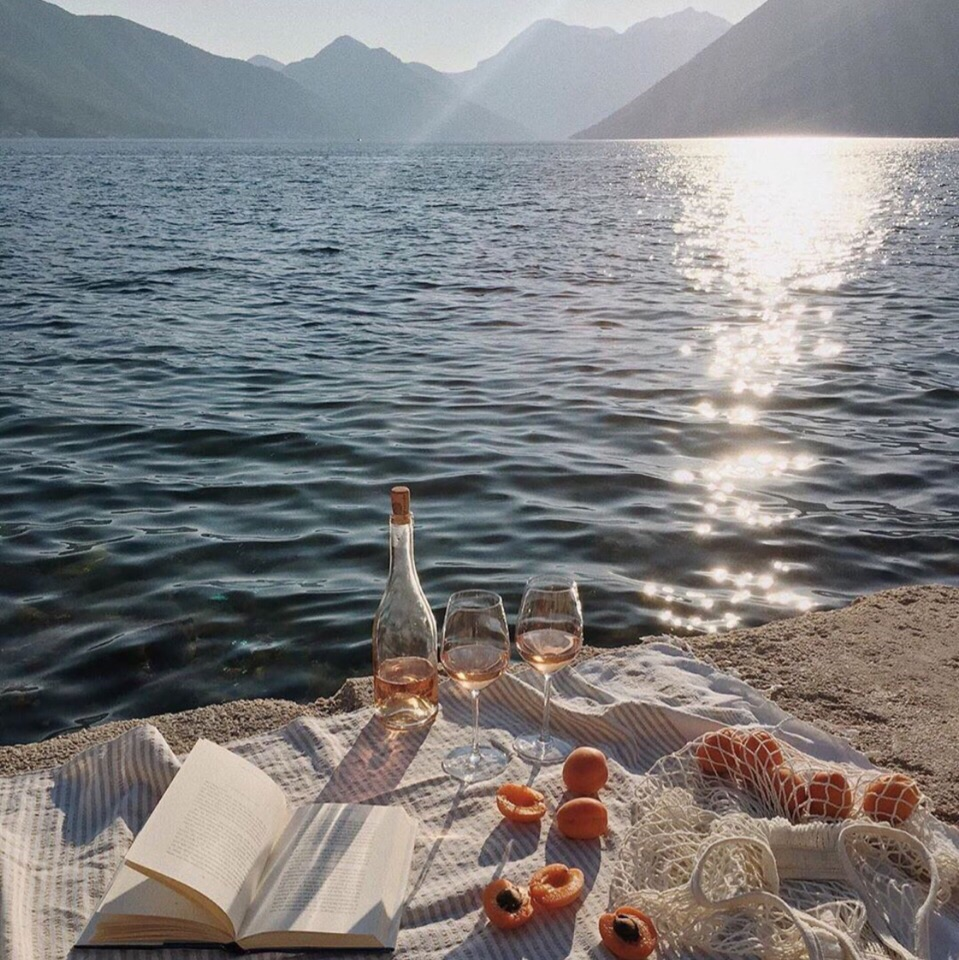 book, summer, and food image